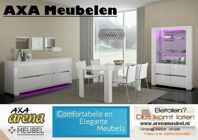 meubelen - LAAGSTE PRIJS MODERN HOOGGLANS WIT WOONKAMER MEUBELEN AXA ...
