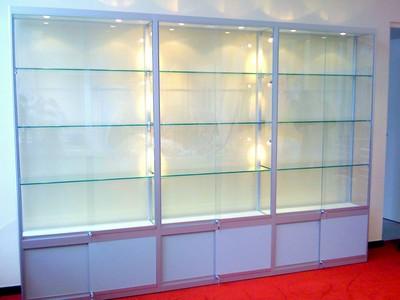 Kast Voor Glazen : Meubelen aluminium vitrinekasten vitrine kast glazen vitrines