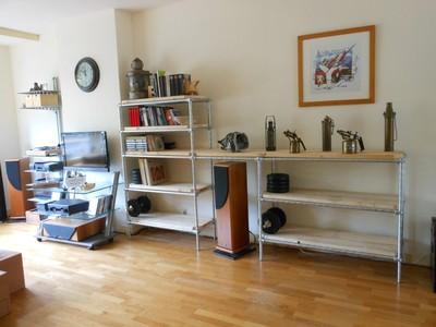 Meubelen boekenkast van steigerbuis en hout gratis op maat origineel - Boekenkast hout en ijzer ...