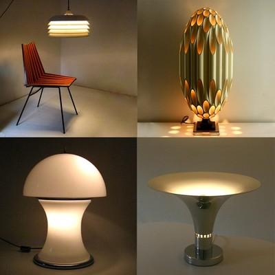 vintage design meubelen verlichting decoratie kunst