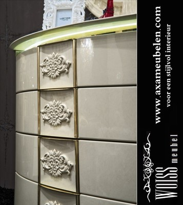 Hoogglans Wit Modern Barok Woonkamer Kast Op Maat Axa Meubel Pictures ...
