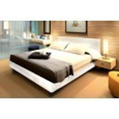 2 Persoonsbed Modern.Meubelen Bed Van Zwart Leer 180 X 200 Cm Modern 2 Persoons Bed Met