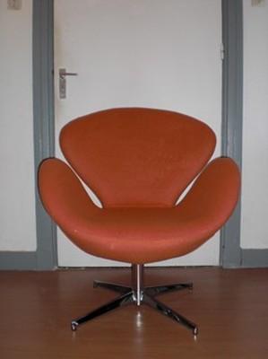 Design Stoel Fauteuil.Main Swan Chair Oranje Design Stoel Fauteuil Advertenties Com