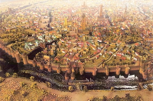 Verzamelen model van middeleeuws brugge ingebouwd in for Mobel brugge