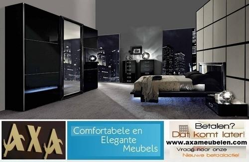 Luxe design zwevend italiaanse hoogglans slaapkamer meubelen AXA ...