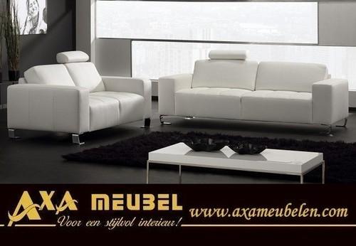 meubelen - Leren longchair costa leder bankstel WOISS Meubelen ...