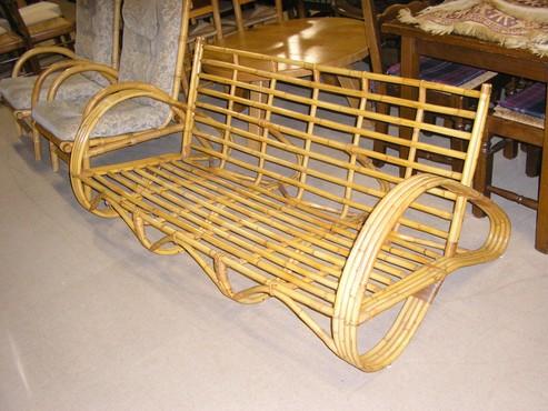 Meubelen jaren 39 60 rotan 3 1 1 zit for Jaren 60 meubelen