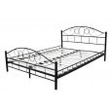 2 Persoonsbed Afmetingen.Meubelen Bed Van Zwart Leer 180 X 200 Cm Modern 2 Persoons Bed Met